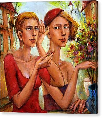 Let Love Flow Canvas Print by Oleg  Poberezhnyi