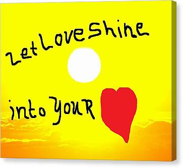 Let Love Shine Canvas Print by Earnestine Clay