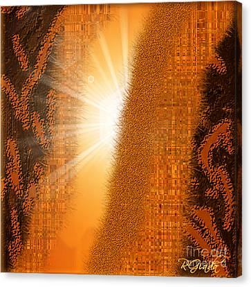 Canvas Print featuring the digital art Let The Sunshine In - Abstract Art By Giada Rossi by Giada Rossi