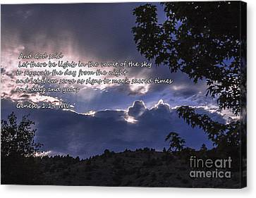 Let There Be Light Canvas Print by Janice Rae Pariza