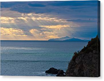 Sun Rays Canvas Print - Let There Be Light by Marco Busoni