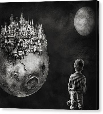 Craters Canvas Print - Let Your Dreams Be Bigger Than Your Fears by Yvette Depaepe