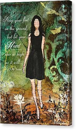 Let Your Heart Soar Canvas Print by Janelle Nichol