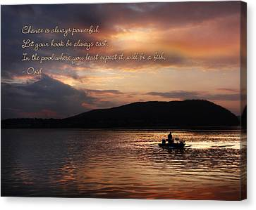 Let Your Hook Be Always Cast Canvas Print by Lori Deiter
