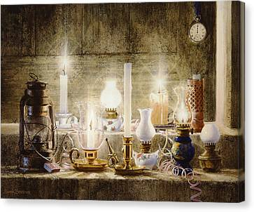 Candle Lit Canvas Print - Let Your Light Shine by Graham Braddock