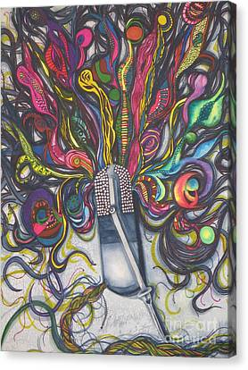 Canvas Print featuring the painting Let Your Music Flow In Harmony by Chrisann Ellis