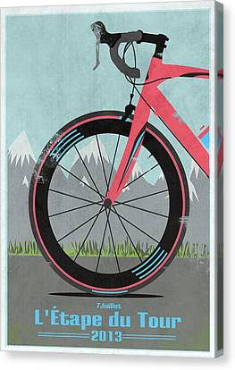 Messenger Canvas Print - L'etape Du Tour Bike by Andy Scullion