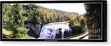 Letchworth State Park Middle Falls Panorama Canvas Print by Rose Santuci-Sofranko