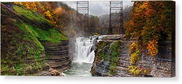 Letchworth Upper Falls 2 Canvas Print by Peter Chilelli