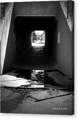 Lethbridge Underpass Canvas Print by Donald S Hall