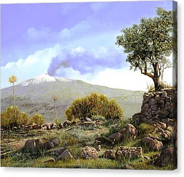 l'Etna  Canvas Print by Guido Borelli