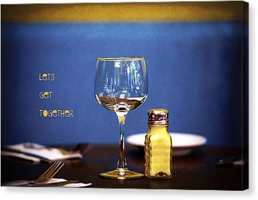 Dinner Party Invitation Canvas Print - Lets Get Together by Joanna Madloch