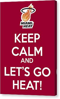 Let's Go Heat Poster Canvas Print