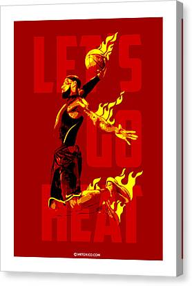 Lets Go Heat Canvas Print by Toxico