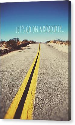 Let's Go On A Roadtrip Canvas Print by Nastasia Cook