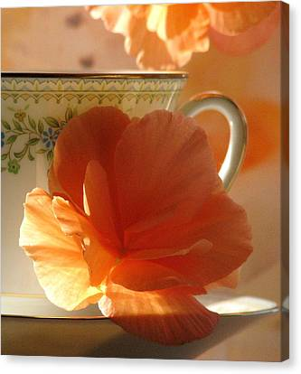 Let's Have Tea Canvas Print by Angela Davies