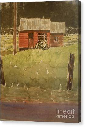 Canvas Print featuring the painting Let's Move In by Suzanne McKay