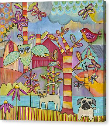 Let's Play Canvas Print by Carla Bank