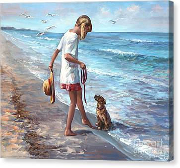 Seabird Canvas Print - Let's Play by Laurie Hein