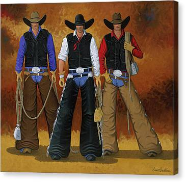 Contemporary Cowgirl Canvas Print - Let's Ride by Lance Headlee