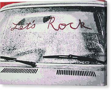 Lets Rock Canvas Print by Ludzska