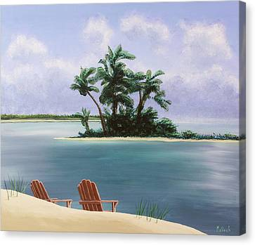 Let's Swim Out To The Island Canvas Print by Jack Malloch