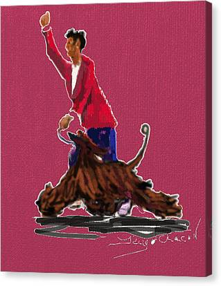 Lets Tango In Red Canvas Print by Terry  Chacon