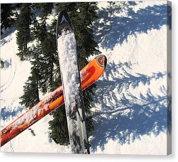 Lets Toast Our Skis Together Canvas Print by Kym Backland