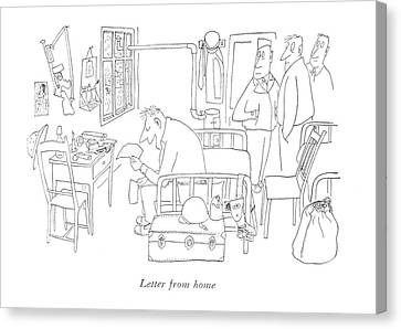 Letter From Home Canvas Print by Saul Steinberg