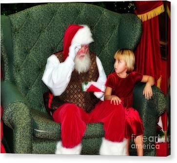 Letter To Santa Canvas Print by Eddie Yerkish