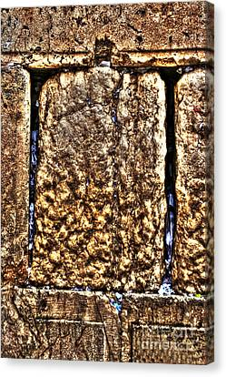 Canvas Print featuring the photograph Letters In The Wailing Wall by Doc Braham