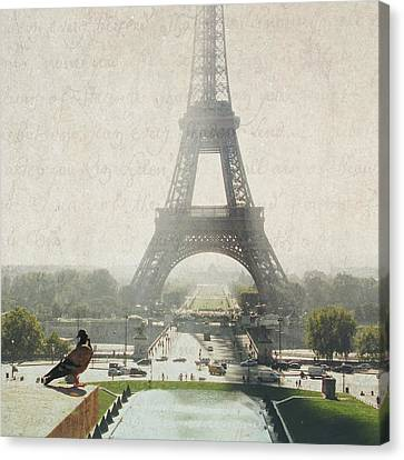 Letters From Trocadero - Paris Canvas Print