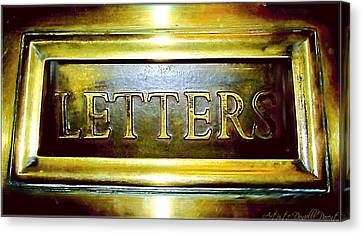 Letters Trough The Door Canvas Print