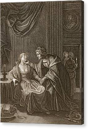 Leucothoe Seduced By Apollo Canvas Print