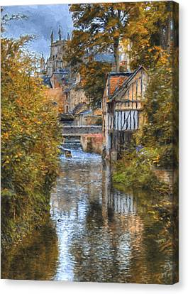 L'eure A Louviers Canvas Print by Jean-Pierre Ducondi