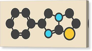 Levamisole Antihelmintic Drug Molecule Canvas Print by Molekuul