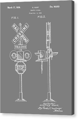 Level Crossing Patent Canvas Print by Dan Sproul
