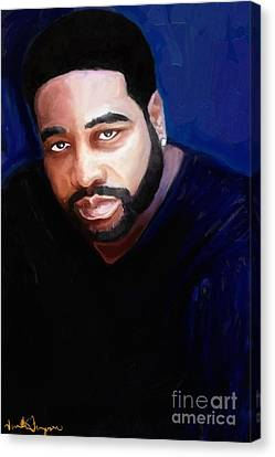 Canvas Print featuring the painting Levert by Vannetta Ferguson