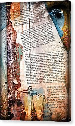 Leviticus 1 Canvas Print
