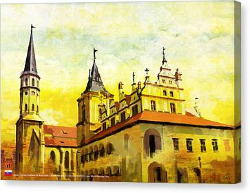Levoca Spissky Hrad And The Associated Cultural Monuments Canvas Print by Catf
