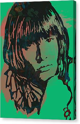 Lewis Brian Jones - Stylised Pop Art Drawing Portrait Poster  Canvas Print