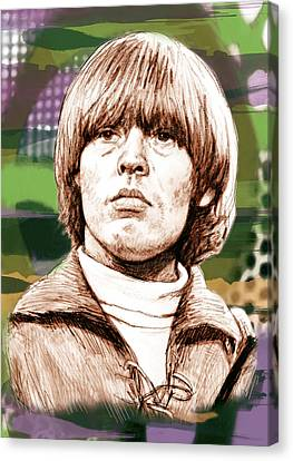 Lewis Brian - Stylised Pop Art Drawing Portrait Poster  Canvas Print by Kim Wang