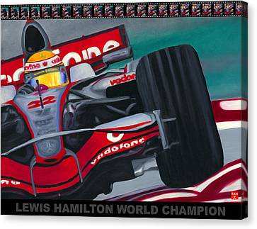 Lewis Hamilton F1 World Champion Pop Canvas Print