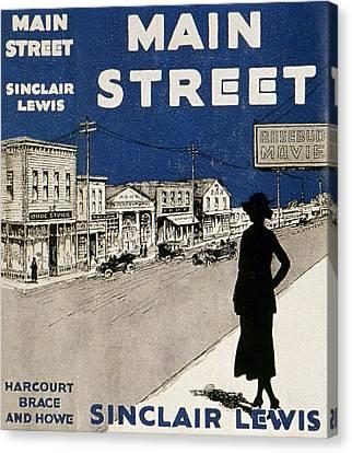 Lewis Main Street, 1920 Canvas Print