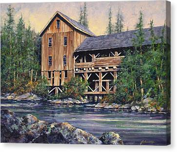 Lewisville Grist Mill Afternoon Canvas Print