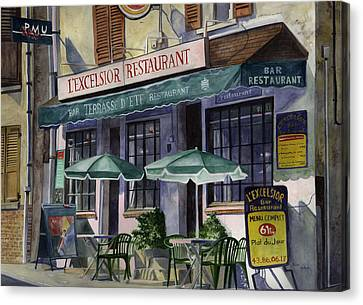 L'excelsior Cafe Canvas Print by Terri  Meyer