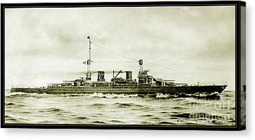 Lexington Class Battle Cruiser Canvas Print by Jon Neidert