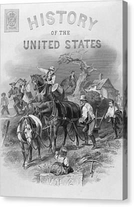 Lexington: Minutemen, 1775 Canvas Print by Granger