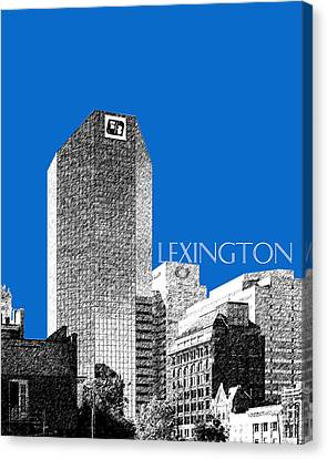 Lexington Skyline - Blue Canvas Print by DB Artist