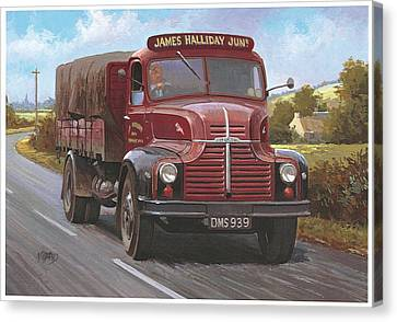Leyland Comet 1948 Canvas Print by Mike  Jeffries